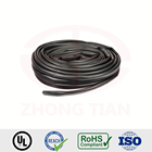 Black insulation flexible pvc tubing for electric