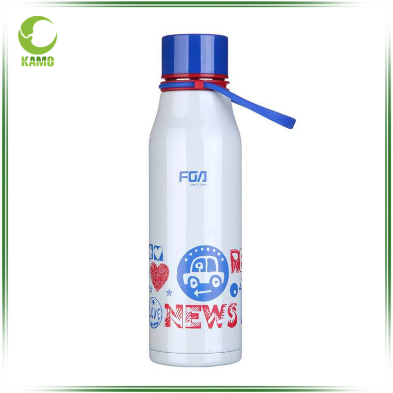 Sport water bottle vacuum insulated 304 stainless steel water bottle with plastic lid