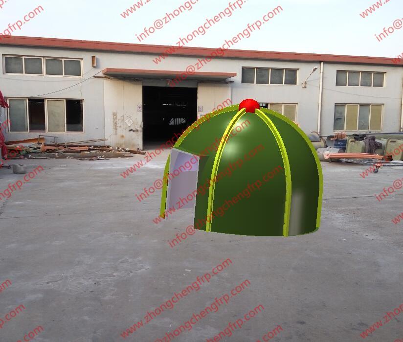 Prefab Dome Homes: Panelized Movable Popular Fiberglass Prefab Geodesic House