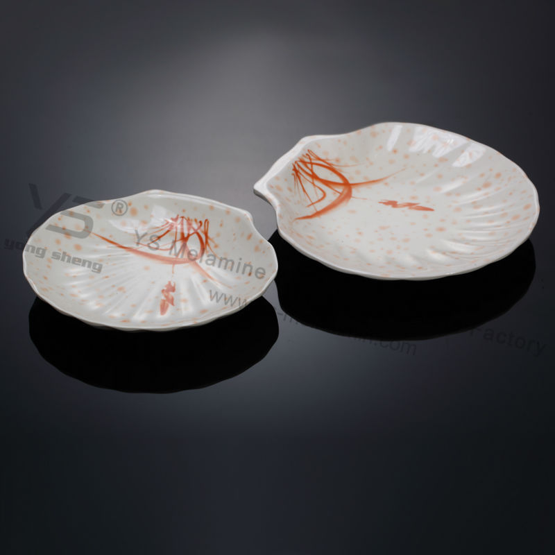 Superior quality bone china shell dinner plates