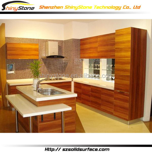 Fantastic cafe bar acrylic solid surface modern cheap kitchen cabinets for sale