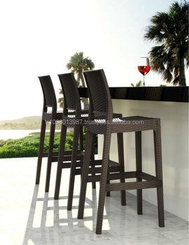rattan outdoor bar stool rezzedesign