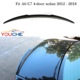 A6 C7 M4 style carbon fiber rear boot wing spoiler for Audi A6 C7 2012-2018 4 door sedan