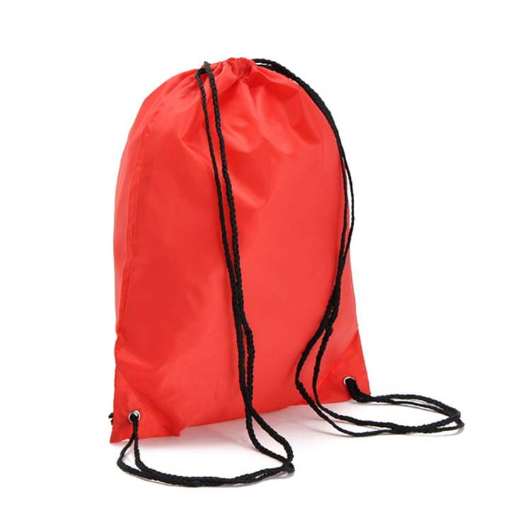 d35b3bc155c Wholesale Retractable 210D Polyester Drawstring Bag Solid String Backpack