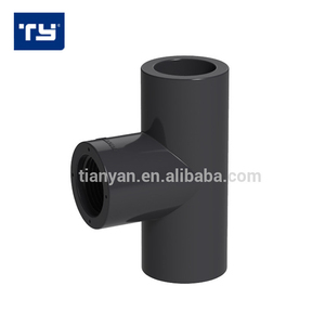 Factory price list PVC rubber pipe flexible Female Tee Joints for Water Supply