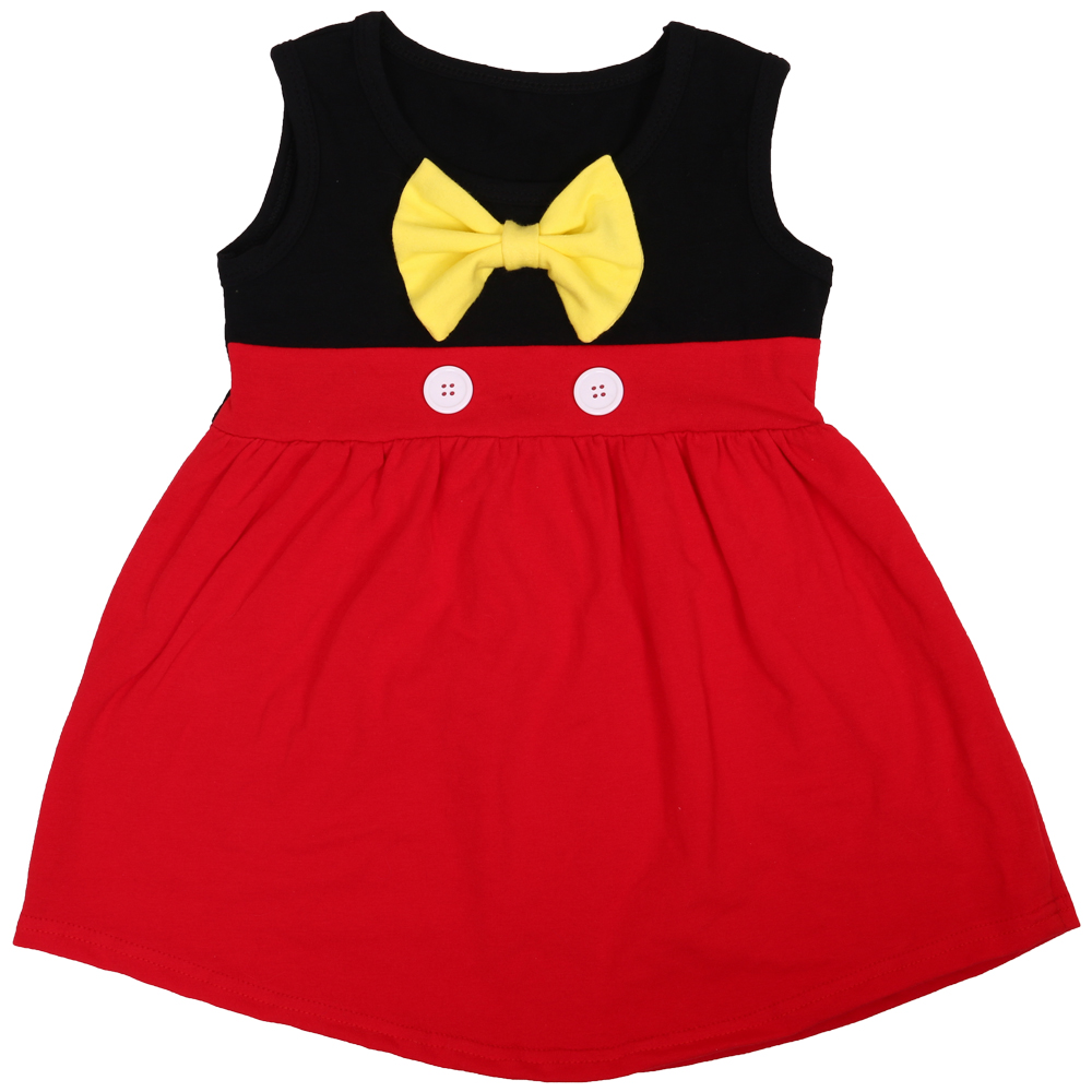 2018 America girl party dress wholesale Minnie Mickey baby dress princess style kids dress