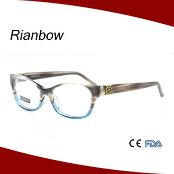 Half Crystal Beautiful Acetate Eyewear Colorful Glasses Frames For