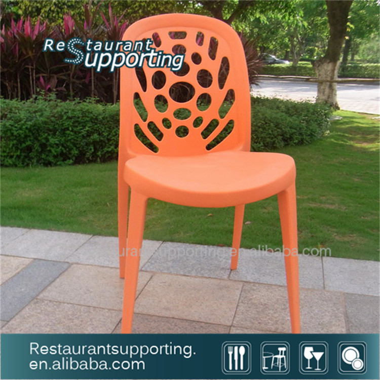 New Design Plastic Dining modern italian plastic Cafe Chairs