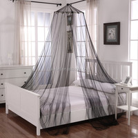 black mosquito net for double bed