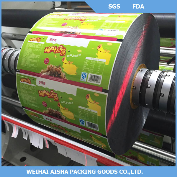 Rewind Roll Rollstock Aluminium Foil Auminized Plastic Packing Food Packaging Film