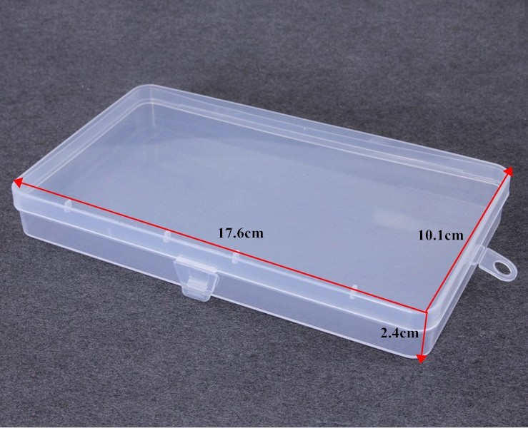 Clear Polypropylene Mini Storage Box With Hinged Lid Snap
