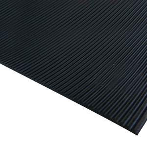 Colorful 3Mm Anti-Slip Fine Ribbed Rubber Sheets/Mats/Rolls/Flooring