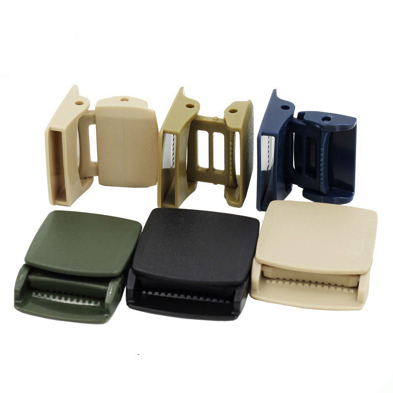 Heavy duty tactical webbing plastic belt buckle