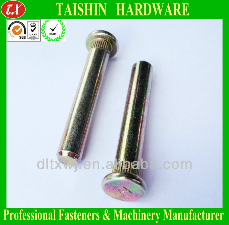 Copper Flat Head Straight Round Lock Pin