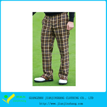prestazioni di poliestere atletica stampato <span class=keywords><strong>plaid</strong></span> mans <span class=keywords><strong>pantaloni</strong></span> da golf