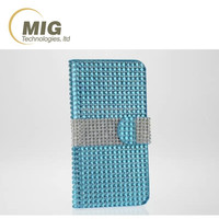 Luxury mobile phone case cover for iphone 6/ 6s, wallet deign bling shining full diamond case for iphone 6 6s plus