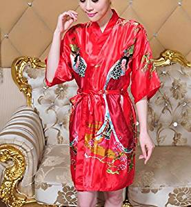 Get Quotations · XH G Short Chinese bathrobe home costume dress women 7909e866f