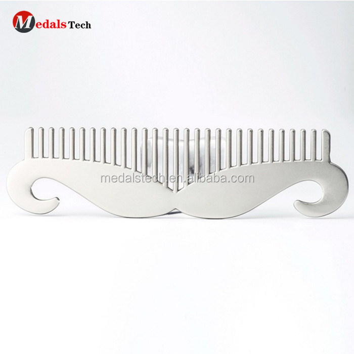 Cheap custom metal blank stainless steel  beard hair comb