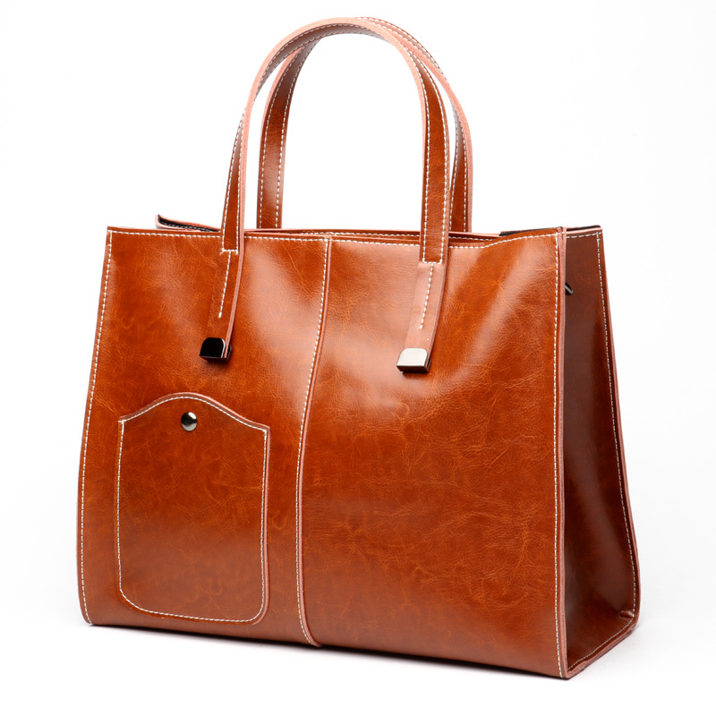 Latest <strong>women</strong> vintage genuine leather handbag professional <strong>women's</strong> shoulder bag ladies laptop tote bag