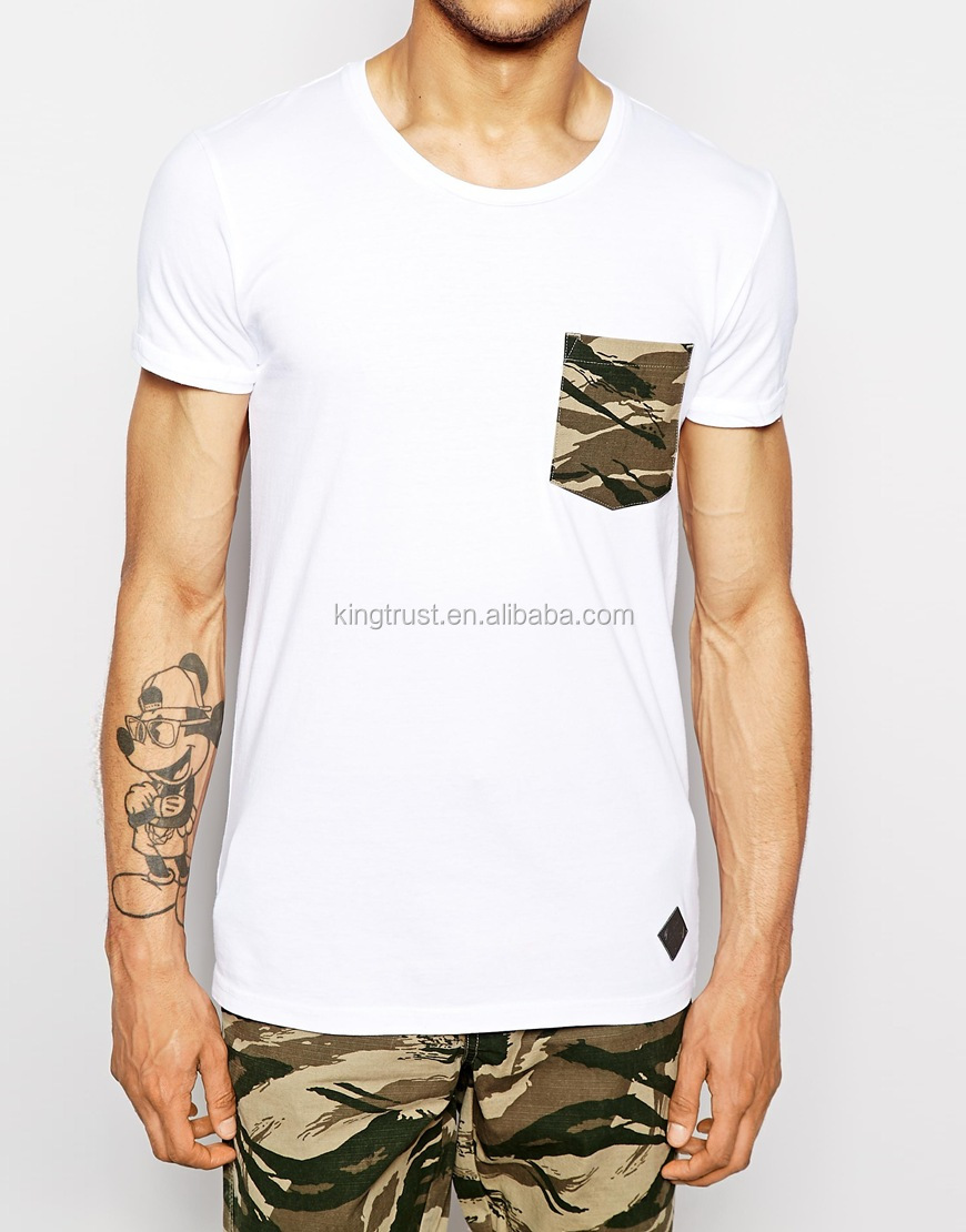 White Plain Camo Pocket Men Fashion T Shirt Exclusive Design Buy
