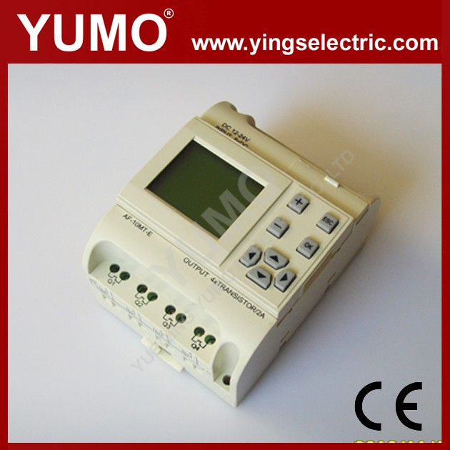 YUMO AF-10MT-E with LCD PLC DC12/24V,6 points DC input 4 points electronic transistor output PLC