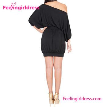 8d7751bb1ad6 Black Casual Off-shoulder New Designer One Piece Short Dress - Buy ...