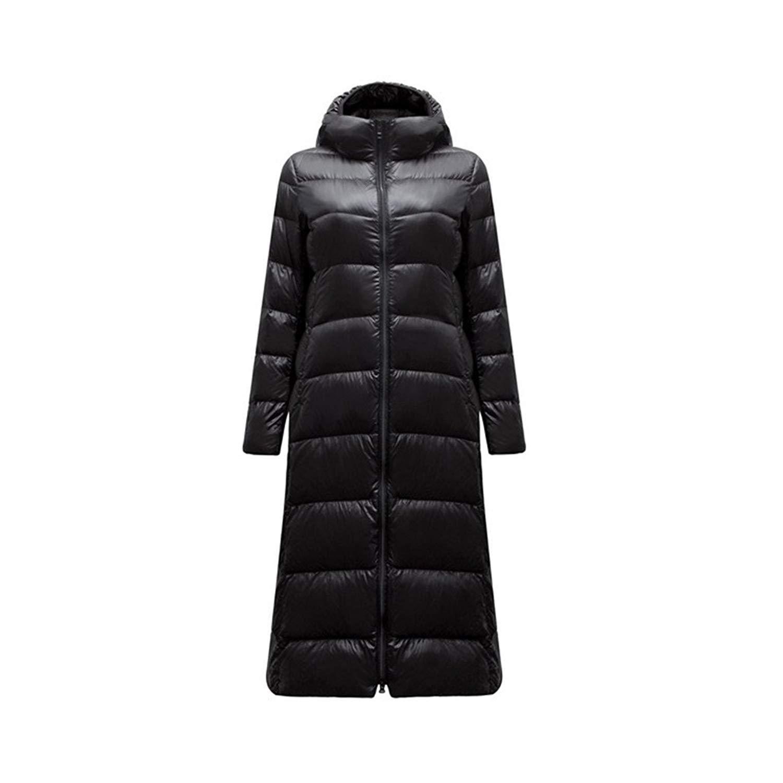 804d5f9f1c5 Get Quotations · Winter Coat Women Ultra Light Down Jacket X-Long Jacket  Feather Parka