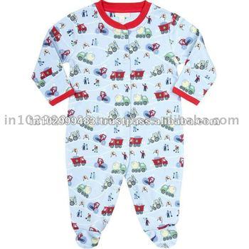 100% Organic Cotton Baby Sleep Suits