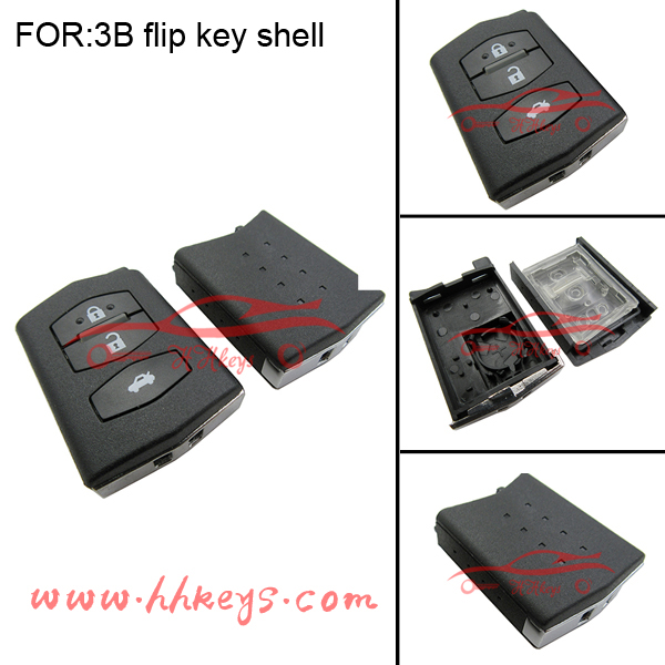 Mazda6 Universal 3 Buttons Remote Controls Car Key blanks Flip key Case