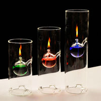 Promotional borosilicate glass oil lamp
