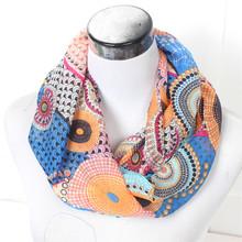 2016 nova tarja feminino Dot anel mulher cachecol moda lavanda outono lenços de seda infinito agradável primavera Chevron Loop de impressão xale