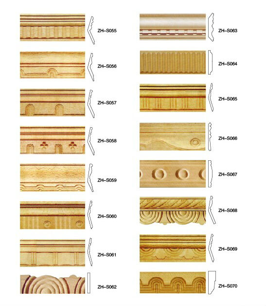 Hand Carved Wood Moulding / Decorative Wooden Molding