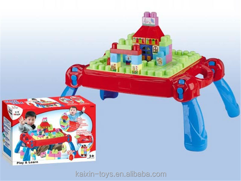Multifunctional ABS Plastic Learning Table Building Block Study Table  EN71/6P