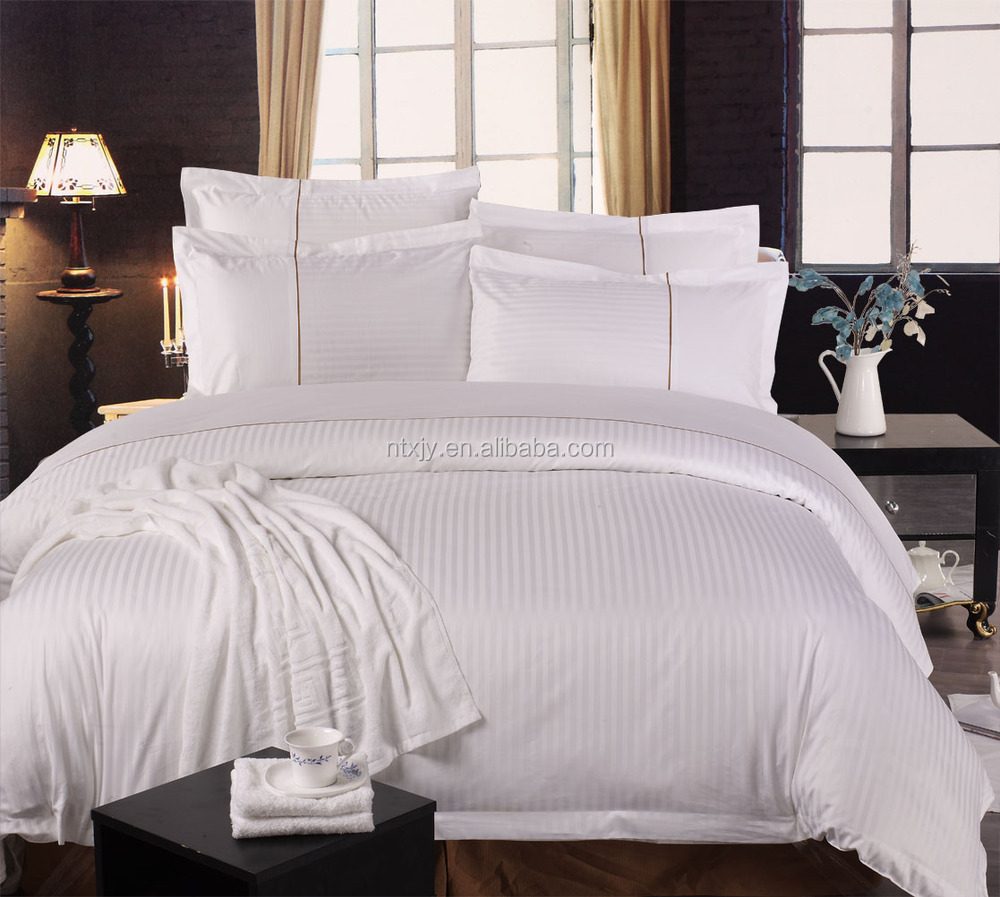 Sateen Jacquard 5star Hotel Bedding Sets With Line On Pillow Bed Bedcover Cover
