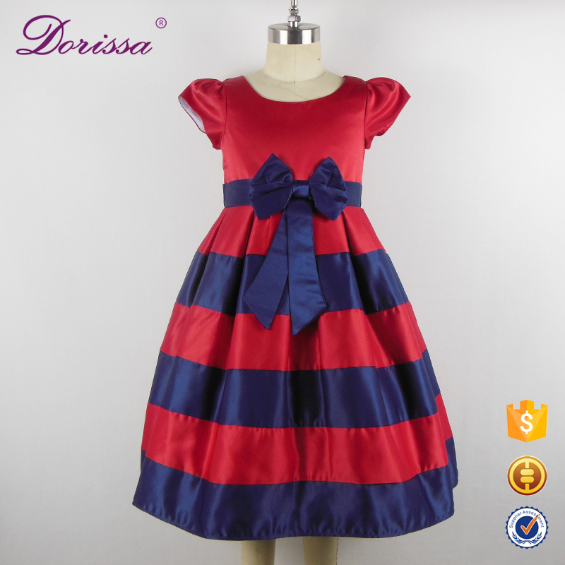 stripe girl party dress Christmas design princess teenage birthday party dresses 2017 custom new arrived dresses children