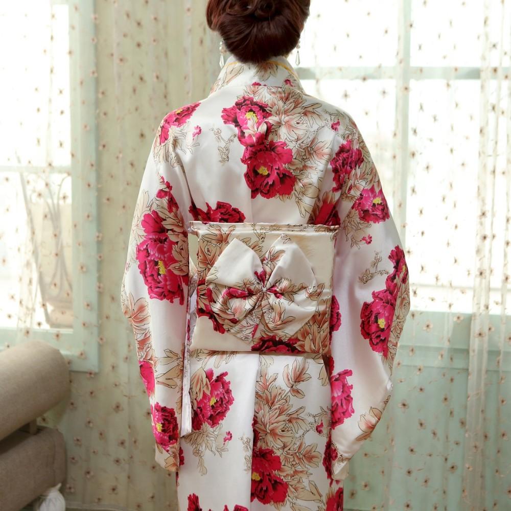 Obi One Frauen Kimono Kostüm Seide Rayon Yukata Size Vintage mit Japanische HL03 Tanzkleid Halloween traditionelle Leistung QChtsrdxB