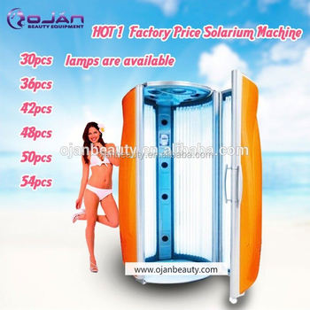 commerical stand up tanning bed orange vertical skin solarium