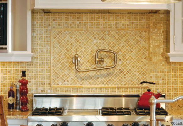 Newstar polished honey onyx backsplash