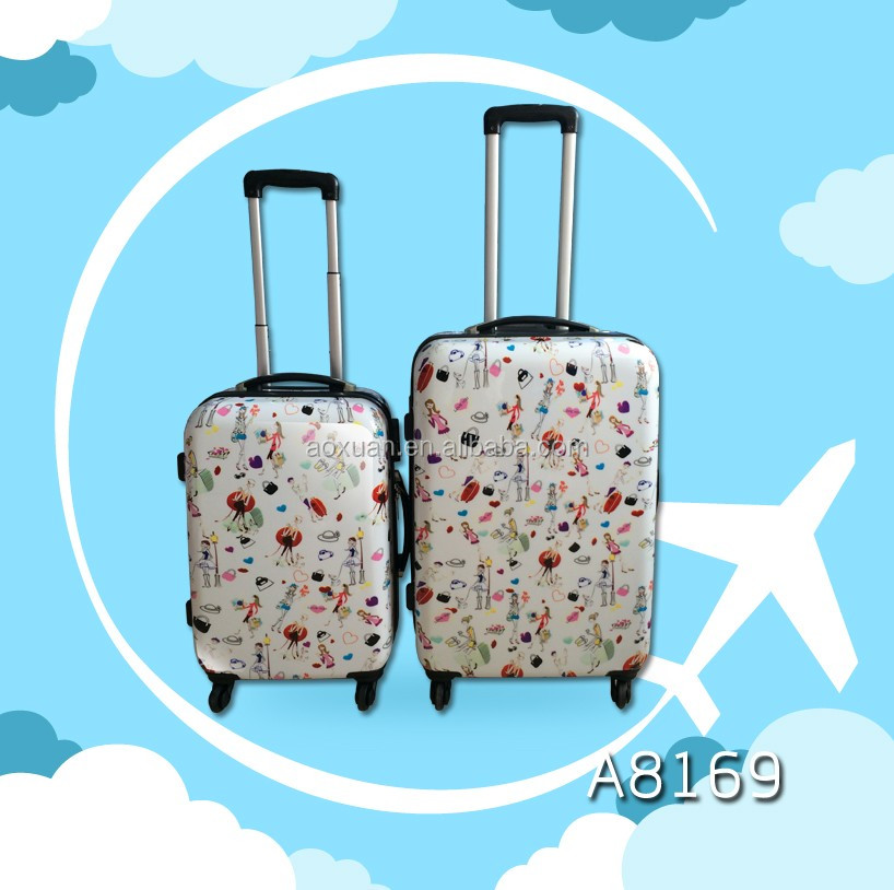 Cute Girls Pattern Full Printting Hardshell bags perfect luggage suitcase
