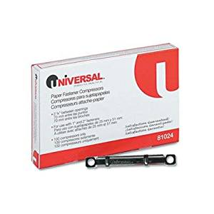 """Universal - 8 Pack - Compressors For File And Paper Fastener Prong Bases 2-3/4 Inch Center 100/Box """"Product Category: Tape Adhesives & Fasteners/Paper Fasteners"""""""