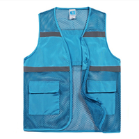 Wholesale Summer Volunteer Reflective Safety Vest with Custom Logo