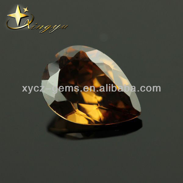 Pear Cut Gems Amber Diamond Loose Stones