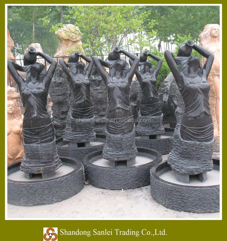 Modernes Design Wasserfall Brunnen Statue Skulptur Marmor Nackte ...