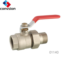 Factory Wholesale Price Manual Power Forged Red Lever Handle New Bonnets Brass Ball Valve