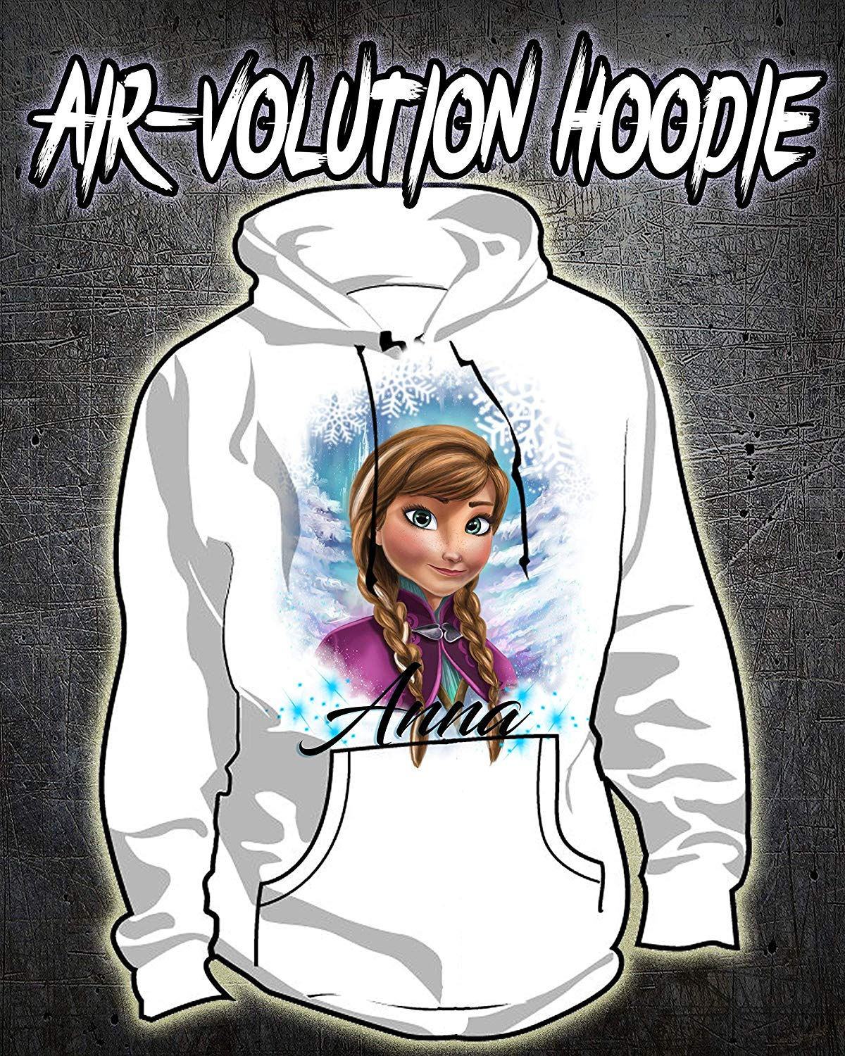 Personalized Airbrush Princess Hoodie