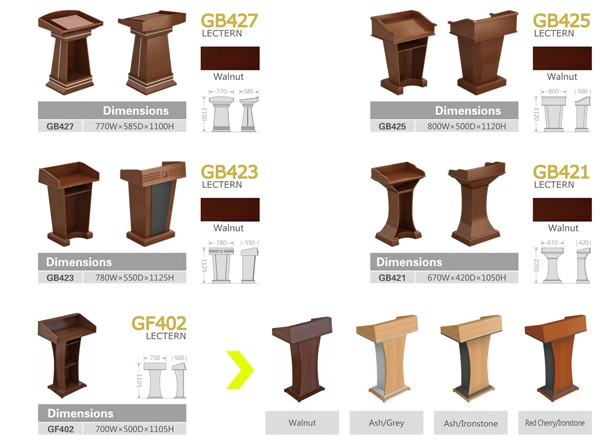 Brand new wooden church free pulpit furniture