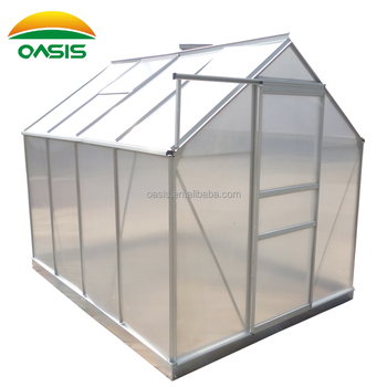 6ftx8ft Mini Aluminum Greenhouse With Pc Board Window For Flower ...