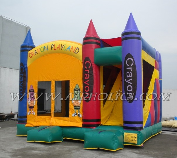 inflatable fun fair, moonwalk with slide A3045