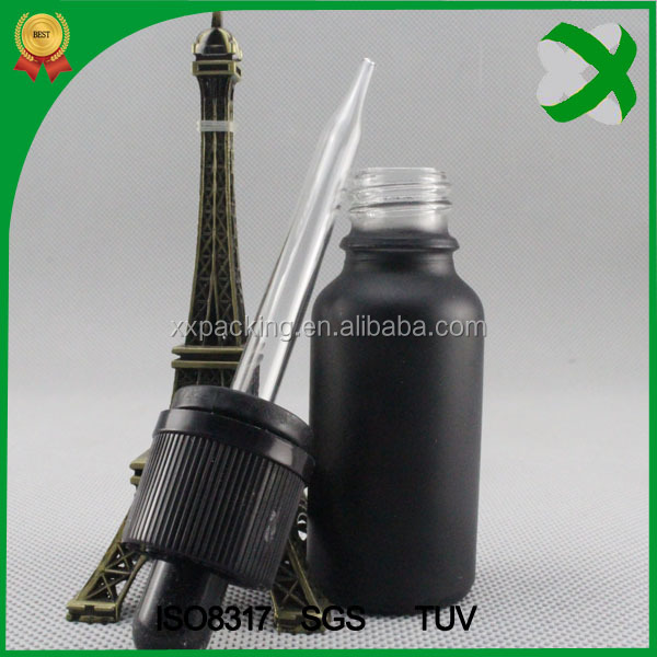 black frosted 30ml glass dropper bottle ,1oz e liquid glass bottle with dropper,tamper 30ml glass bottle glass eye dropper