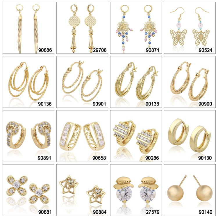 China Suppliers Customized Women Ring Shaped Earrings